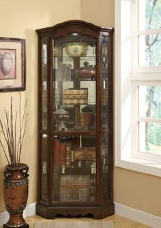 Pulaski Oxford Black Corner Curio Cabinet | Small corner, China ...