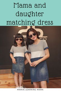 b7e73ff5d880c Super cute mum and daughter matching dress.