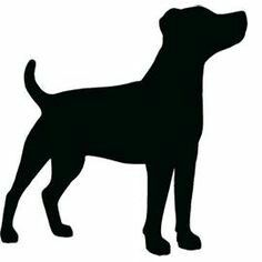 Jack Russell Terrier Standing Side On Looking Up Silhouette Tattoos, Silhouette Clip Art, Animal Silhouette, Silhouette Projects, Silhouette Pictures, Dog Stencil, Stencils, Vogel Silhouette, Dog Outline