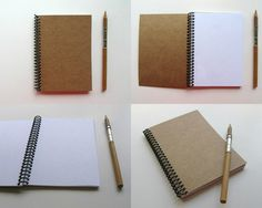 Kraft Plain Spiral Notebook 4 x 6 by Ciaffi on Etsy, $12.50