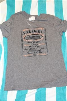 This Lake Girl shirt would go great with a pair of coral colored shorts!