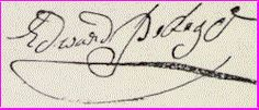 "Signature of Edward Pedigo.  My Revolutionary Ancester  ""Grandsire"" Ned."