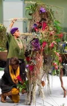 Exotik pur: auf der IPM ESSEN 2014 zeigten internationale Lehrer für Floral-Design ihre Blumenkunst