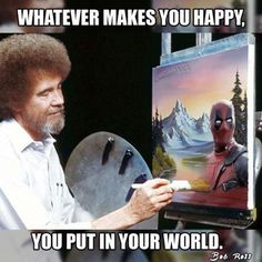 Even #Bob #Ross is excited for the new Deadpool movie