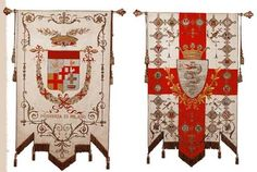 Heraldic flags and standards