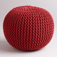 One of my favorite discoveries at WorldMarket.com: Chili Pepper Knitted Pouf