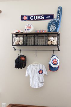 When I began envisioning Hudson's nursery I had so many ideas. I knew I wanted to do a vintage baseball theme because Kyle is a huge Cubs f...