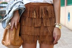 fringe skirt want! Leather Fringe, Suede Leather, Skirt Outfits, Cute Outfits, Rodeo Outfits, Fringe Skirt, Brown Suede, Autumn Winter Fashion, Dress To Impress