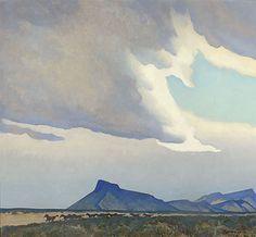 desert shower maynard dixon   Maynard Dixon Gallery Paintings and Art Examples and Signatures