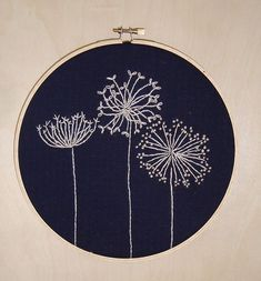 Dandelion embroidery by craftjunk on flickr