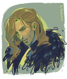 "junjou-fujoshi: "" viktopia: "" a weird urge to draw anders with long hair gotta shake that rust off…! "" I like it """