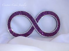 Infinity Symbol Cake Topper by CoutureCakeToppers on Etsy
