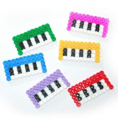 perler bead keyboard - would be cute as coasters