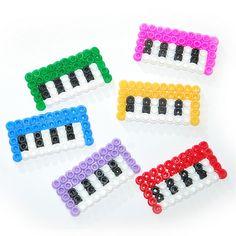 perler bead keyboard - would be cute as coasters