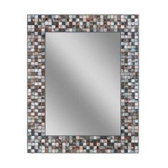 Baby Mirror Toys - Frameless Earthtone CopperBronze Mosaic Tile Wall Mirror  30 in L x 24 in W >>> Visit the image link more details.