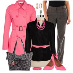 """Plus Size for Work in Pink"" by elise1114 on Polyvore"