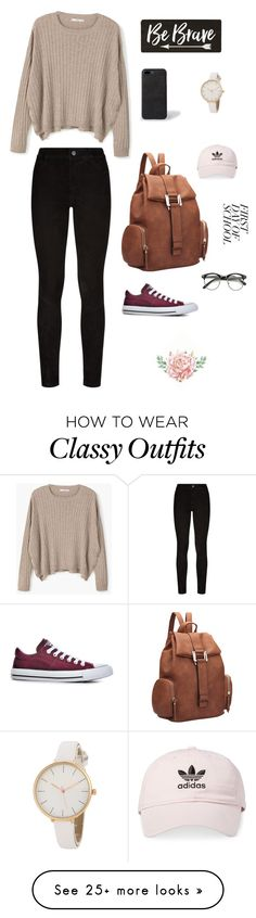 """~Cute.Simple.Classy~"" by g-emanuela20 on Polyvore featuring MANGO, Paige Denim, Converse, Dasein, Paul Smith and adidas"