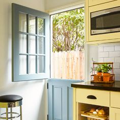 half door between dining room, yoga room  Photo: Joe Schmelzer   thisoldhouse.com   from A Kitchen Redo with Added Function and Lots More Charm