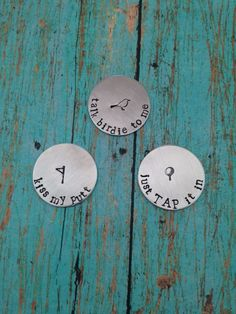 Set of 3 Personalized Magnetic Golf Ball by SilverLiningStamping
