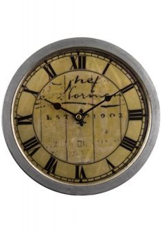 Display your classic taste in home decor with this yellow coloured wall clock from Truhome. The aged finish and vintage looks give this simple designed clock an outstanding appeal. Add this stylish piece into your home decor collection today.