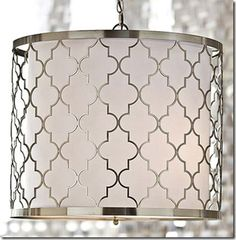 Regina Andrew Brushed Nickel Patterned Fixture - contemporary - Pendant Lighting - Regina Andrew Also an over the desk possibility Lighting Inspiration, Dining Room Lighting, Light Fixtures, Home Lighting, Contemporary Pendant Lights, Contemporary Chandelier, Drum Shade, Pendant Fixture, 3 Light Chandelier