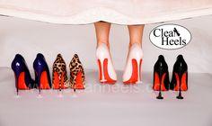 Louboutin Heaven!  Protect your heels with Clean Heels Heelstoppers