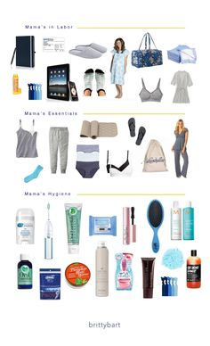 Hospital Bag Checklist in Pictures