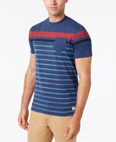 Tommy Hilfiger Men's Wagon Stripe Pocket T-Shirt