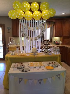 Grey and yellow 1st birthday party. You are my sunshine birthday party.