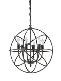 Round Metal Sphere Restoration Chandelier Hardware Orb Light Fixture  on eBay along with several other awesome Orb chandeliers!! #spon