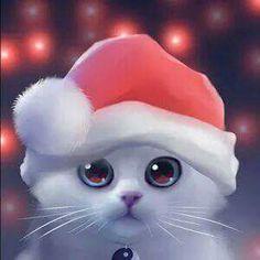 =^. ^= Cat Art =^. ^= ❤ ...Navidad 2016...By Artist Unknown...