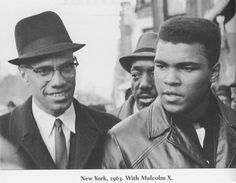 Malcolm X and Muhammad Ali In New York - 1963