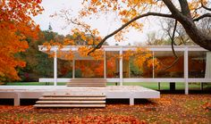 Farnsworth House (1946-51) by L. Mies van der Rohe