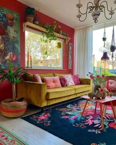 53 Bohemian Style Home Decors With A New Designs > Fieltro.Net 53 Bohemian Style Home Decors With A New Designs > Fieltro. Colourful Living Room, Boho Living Room, Living Room Interior, Living Room Decor, Bohemian Living, Colourful Home, Colorful Couch, Colorful Dining Rooms, Yellow Living Rooms