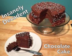 Old fashioned chocolate cake with chocolate buttercream, made low carb  & grain free!