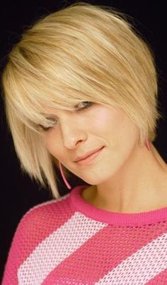 Chin Length Hairstyles for Fine Straight Hair . Unique Chin Length Hairstyles for Fine Straight Hair . Short Straight Hairstyles with Bangs Short Hairstyles 2017 2018 Thin Hair Cuts, Bobs For Thin Hair, Short Thin Hair, Medium Short Hair, Medium Hair Styles, Short Hair Styles, Plait Styles, Short Blonde, Short Cuts
