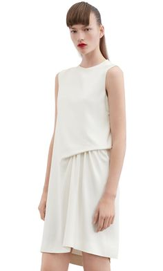 Acne Studios Caprice Str Cr Off White Stretch crepe dress