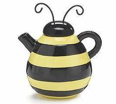 Vintage Honey Pot Teapot Yellow Bees