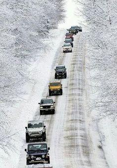 J e e p. In paradise snow.