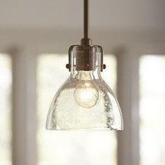 Seeded Glass Pendant Light Fixture #PendantLights