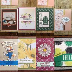 Great card buffet last night. All designs from the new catalog. Join us next month. #stampinup #ilovewhatido #cardbuffet
