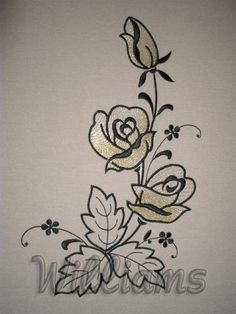 Roses 3   Machine embroidery design