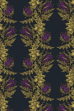 Love this pattern! There used to be a wonderful little shop in Seattle's Occidental Square called Ornamo. The shop owner, Brian, showed Timorous Beasties and I fell in love with wallpaper. Up until th