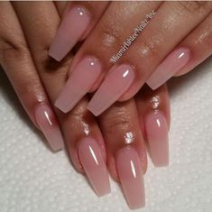Clear Pink Nails Pinterest Acrylic Nails Nails And Pink Nails