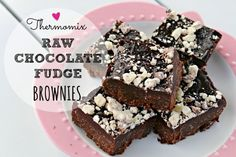 Mrs D plus 3 | Thermomix Raw Chocolate Fudge Brownie Recipe | http://www.mrsdplus3.com