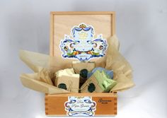 Orange Fuzz: Fab Five Soap Pack in a Cigar Box http://craftysupermarket.wordpress.com/2013-holiday-crafters/