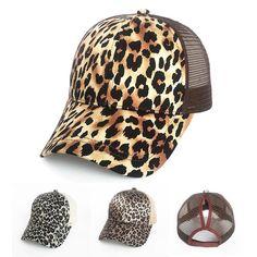 4e4010ee6f34 Fashion Leopard Ponytail Women Baseball Cap - LoveLuve Picture Sizes, Caps  Hats, Hats For