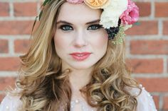 renaissance flower crown