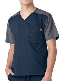 A long day ahead of you? Reach for Carhartt's color block utility scrubs. Scrubs Outfit, Scrubs Uniform, Green Scrubs, Greys Anatomy Scrubs, Medical Uniforms, Medical Scrubs, Nurse Scrubs, Womens Scrubs, Scrub Hats