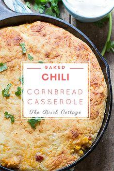 A Sweet Twist on Chili with Baked Chili Cornbread Casserole Recipe